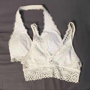 🦋2 for $15🦋 2 Pack White Bralettes